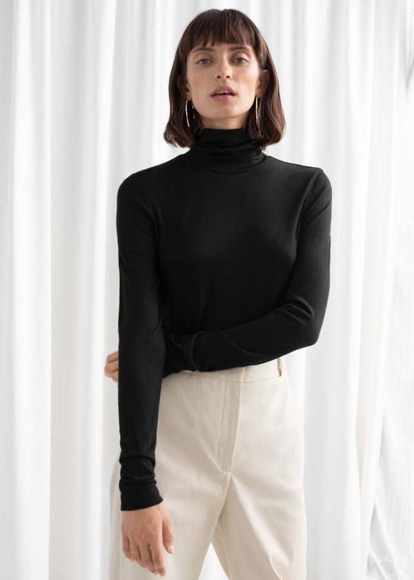 Thin Wool Knit Turtleneck ... 443adb1dd5