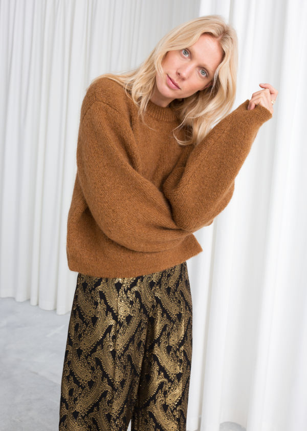 Chunky Jacquard Knit Sweater