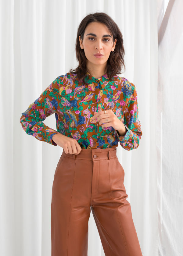 Straight Fit Silk Shirt