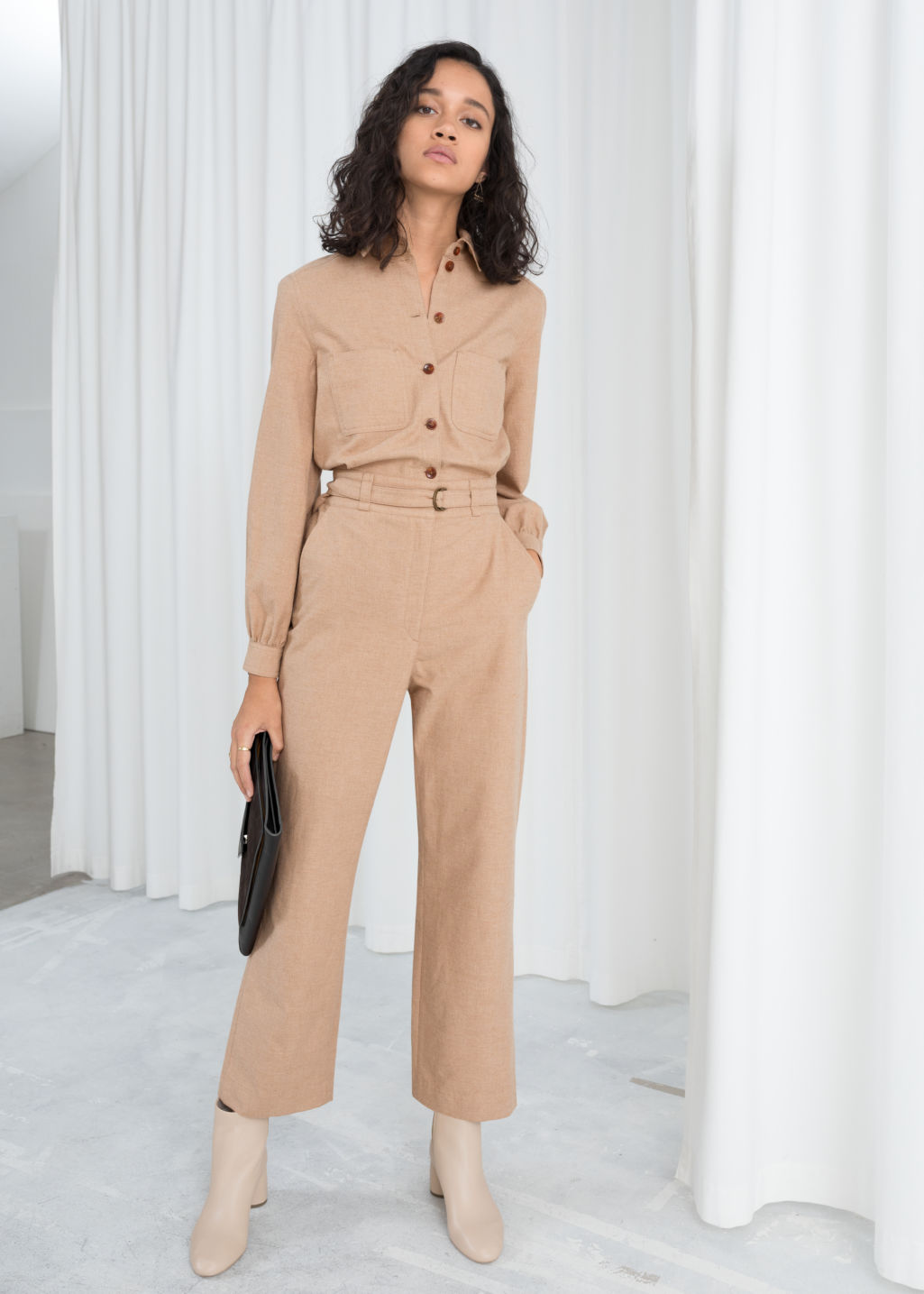 8668ecd09d5 Workwear Boilersuit - Beige - Jumpsuits   Playsuits -   Other Stories