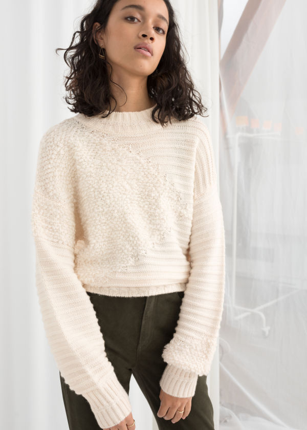 Mixed Texture Wool Sweater