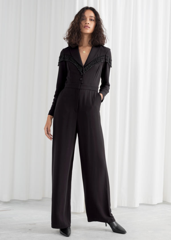 Beaded Long Sleeve Jumpsuit
