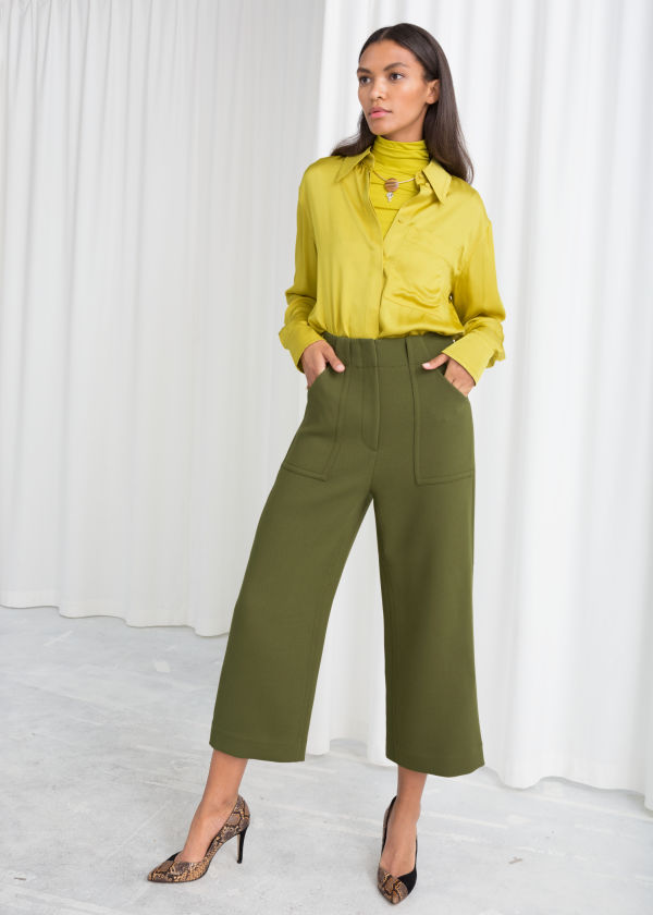 High Waisted Workwear Trousers