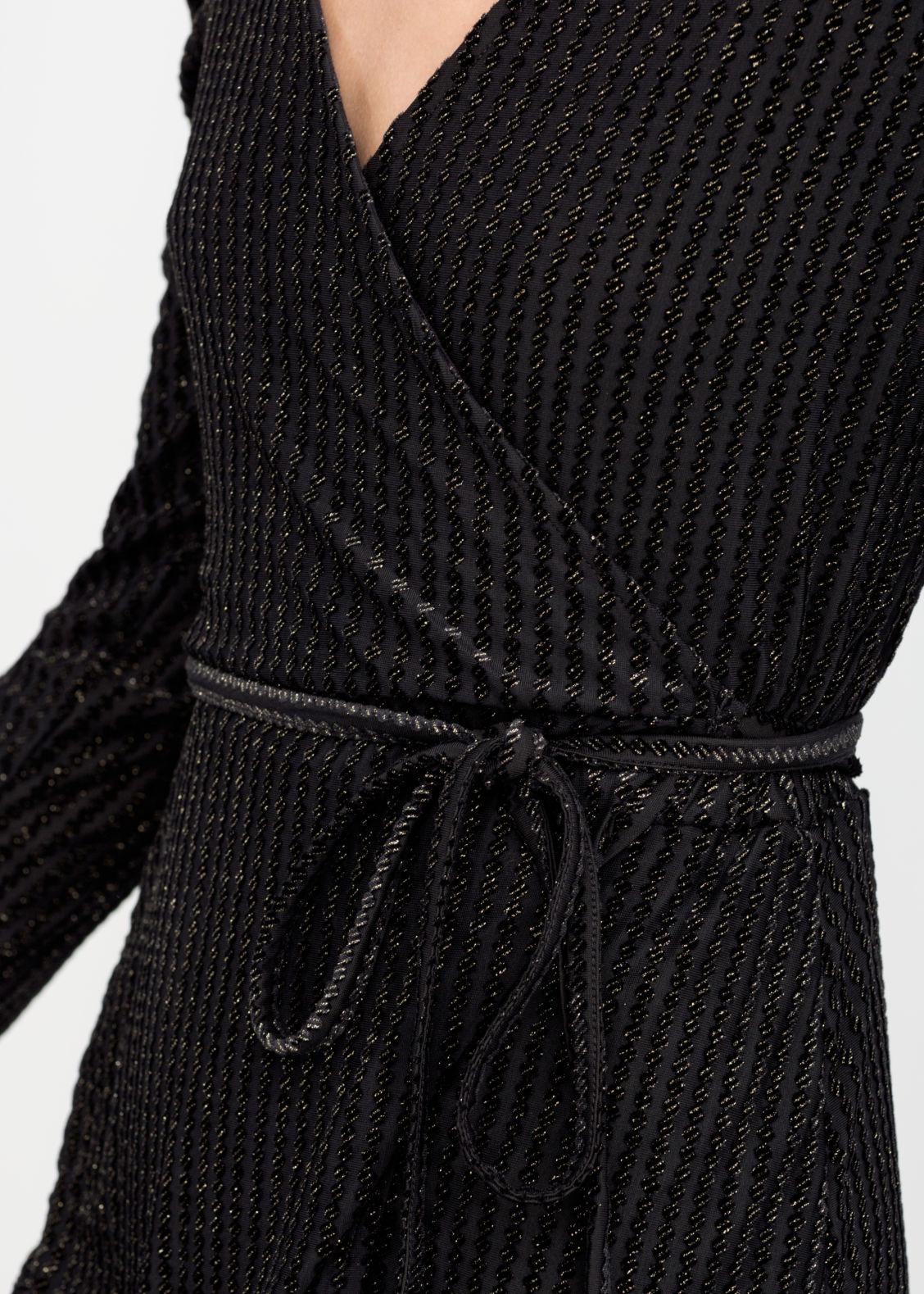 4849fb2b9c4 Glitter Stripe Velvet Wrap Dress - Black - Mini dresses -   Other Stories