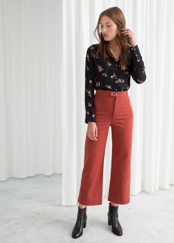 Twill Culotte Trousers
