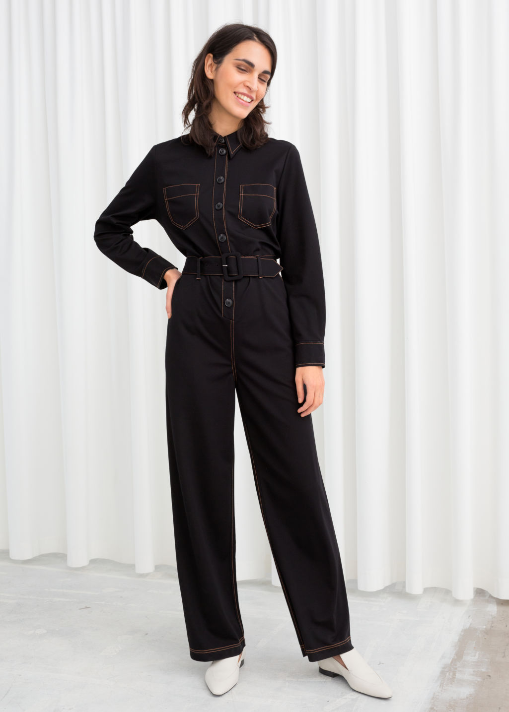 ff48ae78b8d Workwear Boiler Suit - Black - Jumpsuits   Playsuits -   Other Stories