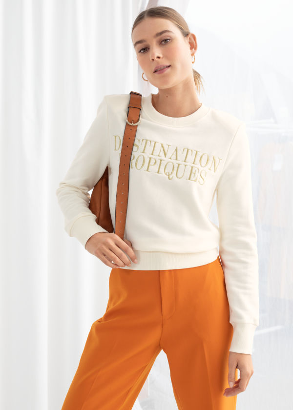 Destination Tropiques Embroidered Pullover