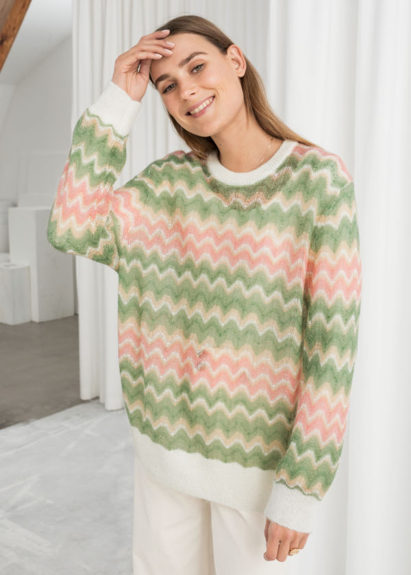 Zig Zag Wool Blend Sweater