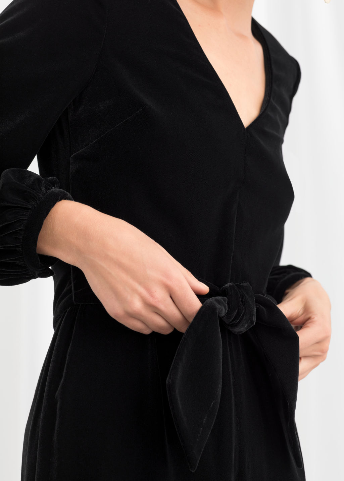 a7978733fa6b Plunging Velvet Jumpsuit - Black - Jumpsuits   Playsuits -   Other ...