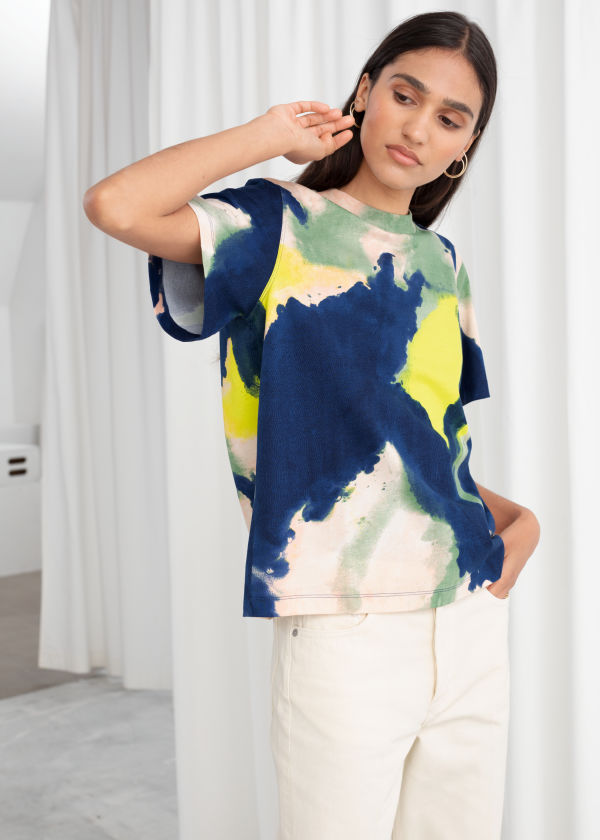 Boxy Watercolour Organic Cotton Tee