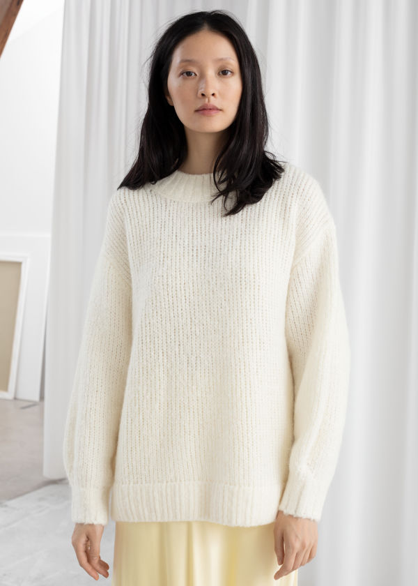 Oversized Merino Wool Blend Sweater