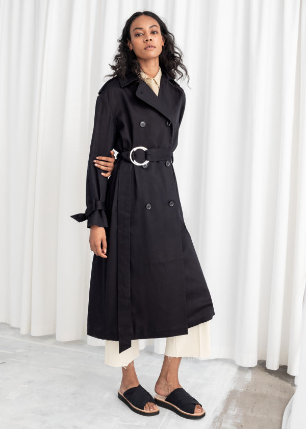 120307d39b7 Belted Oversized Lyocell Trenchcoat ...
