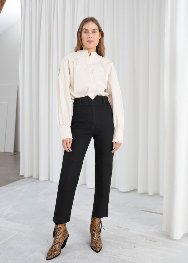 High Waisted Cotton Riding Pants