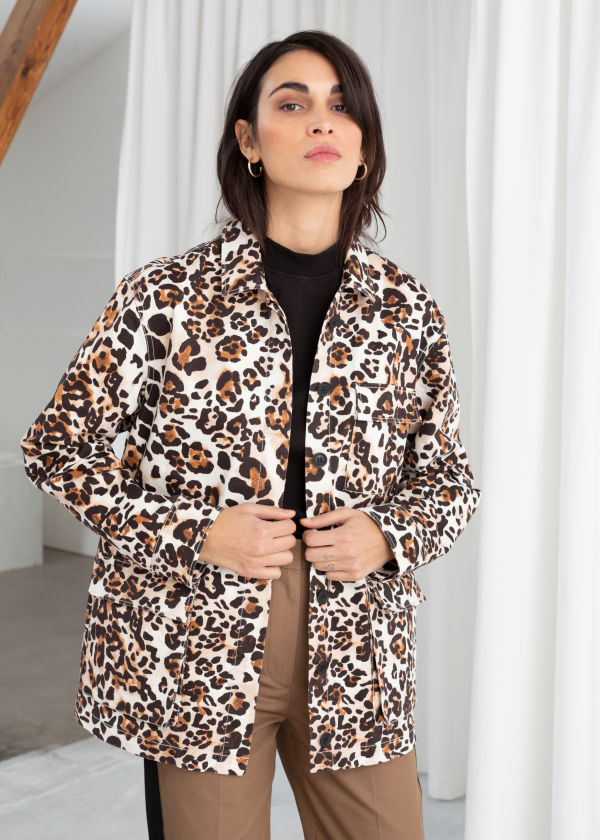 Jaguar Print Cotton Workwear Jacket