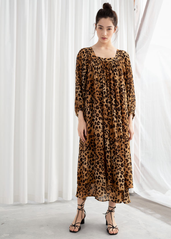 Leopard Kaftan Maxi Dress