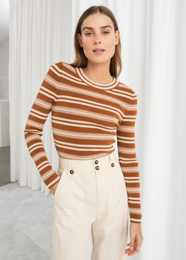 Fitted Striped Top
