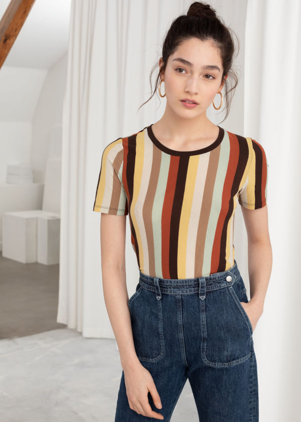 Striped Cotton Tee
