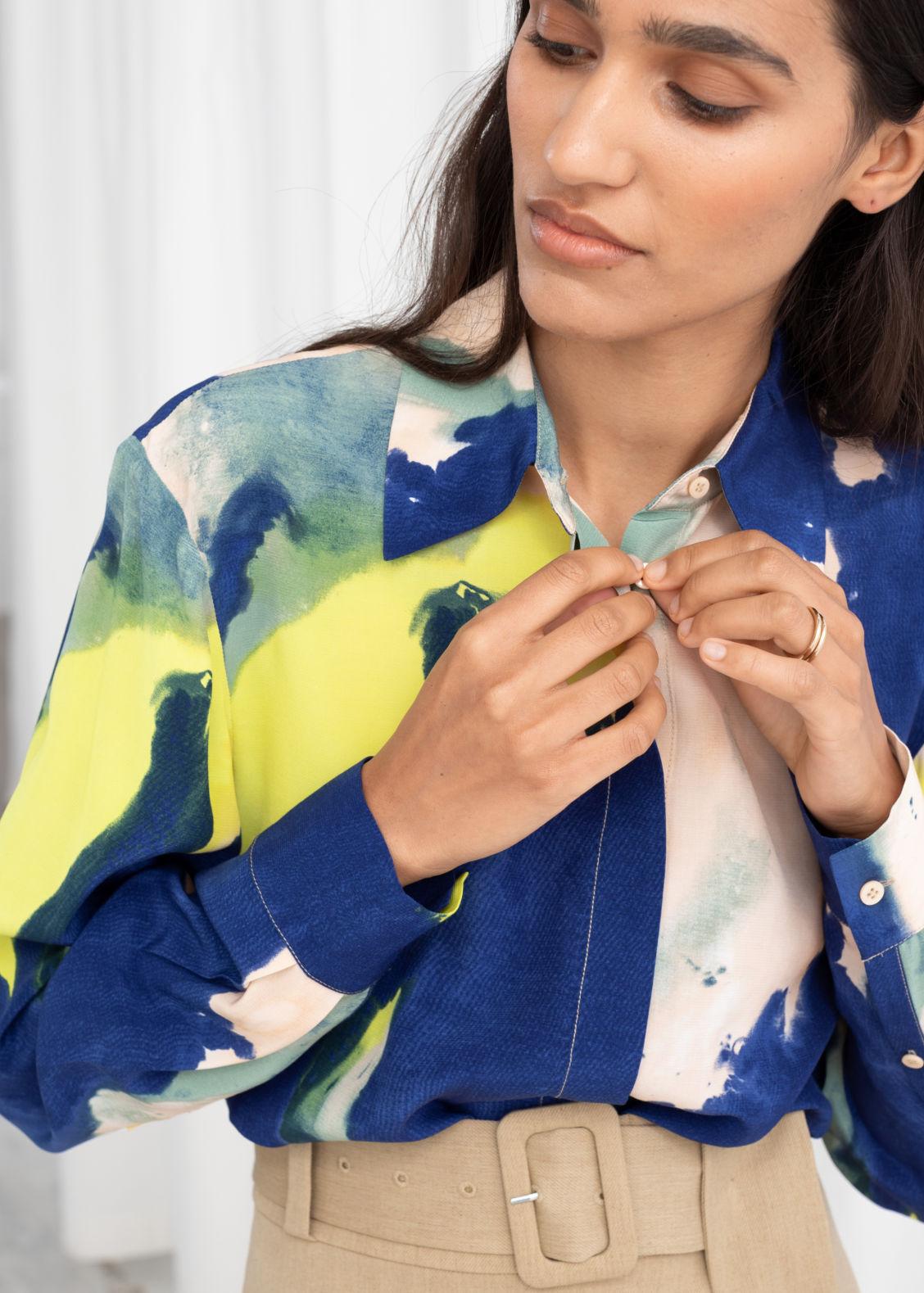 b11b002716c6 Watercolour Button Up Shirt - Watercolour - Shirts -   Other Stories