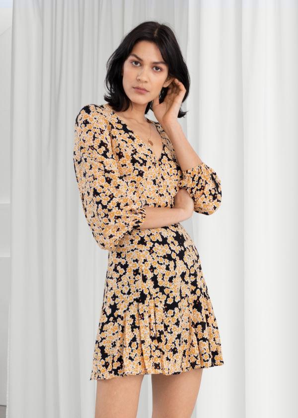 Floral Modal Blend Mini Dress ... 2a1faa52419cc