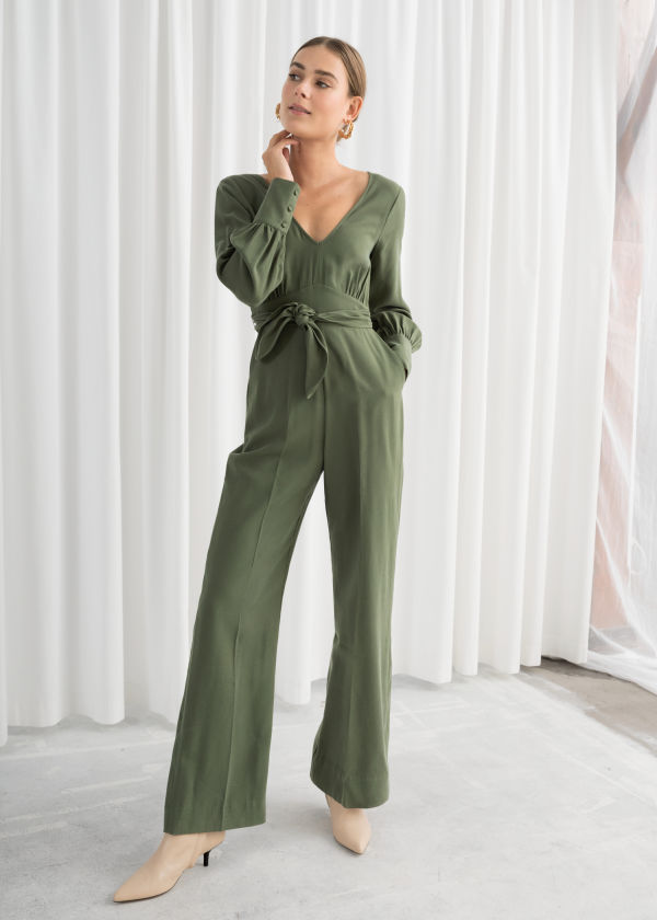 cc346994b8 Flared Belted Jumpsuit Flared Belted Jumpsuit