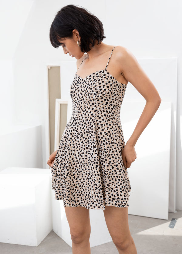 Leopard Mini Skater Dress