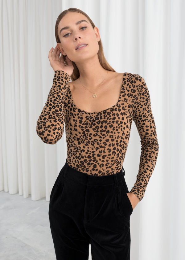 Long Sleeve Leopard Bodysuit