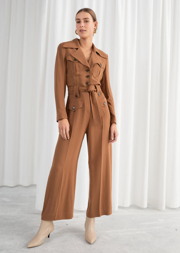 Belted Workwear Jumpsuit