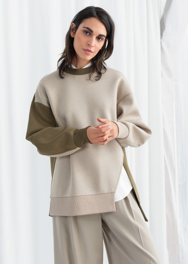 Oversized Patchwork Pullover