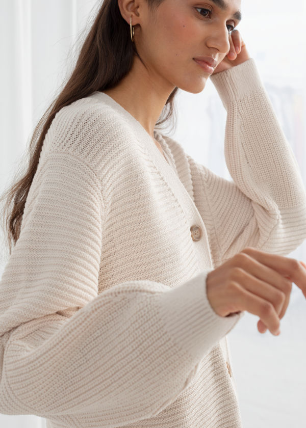 Cropped Cotton Cardigan