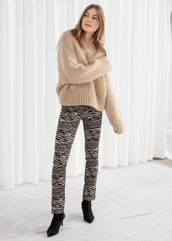 Zebra Print Legging Trousers