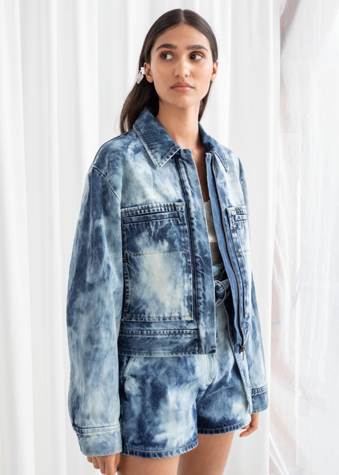 7f1e27d7f Tie Dye Organic Cotton Denim Jacket - Tie Dye - Denimjackets - & Other  Stories