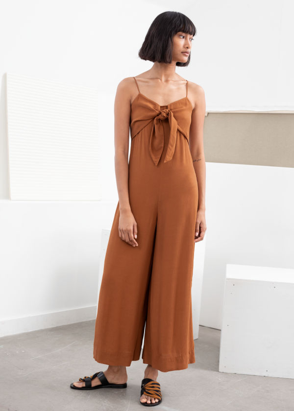 Relaxed Tie Bow Jumpsuit