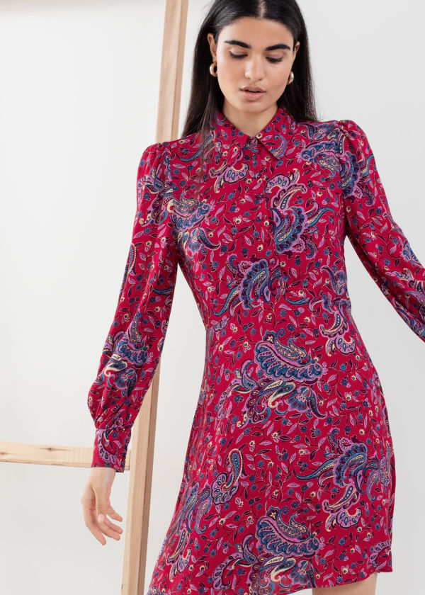 Paisley Mini Shirt Dress
