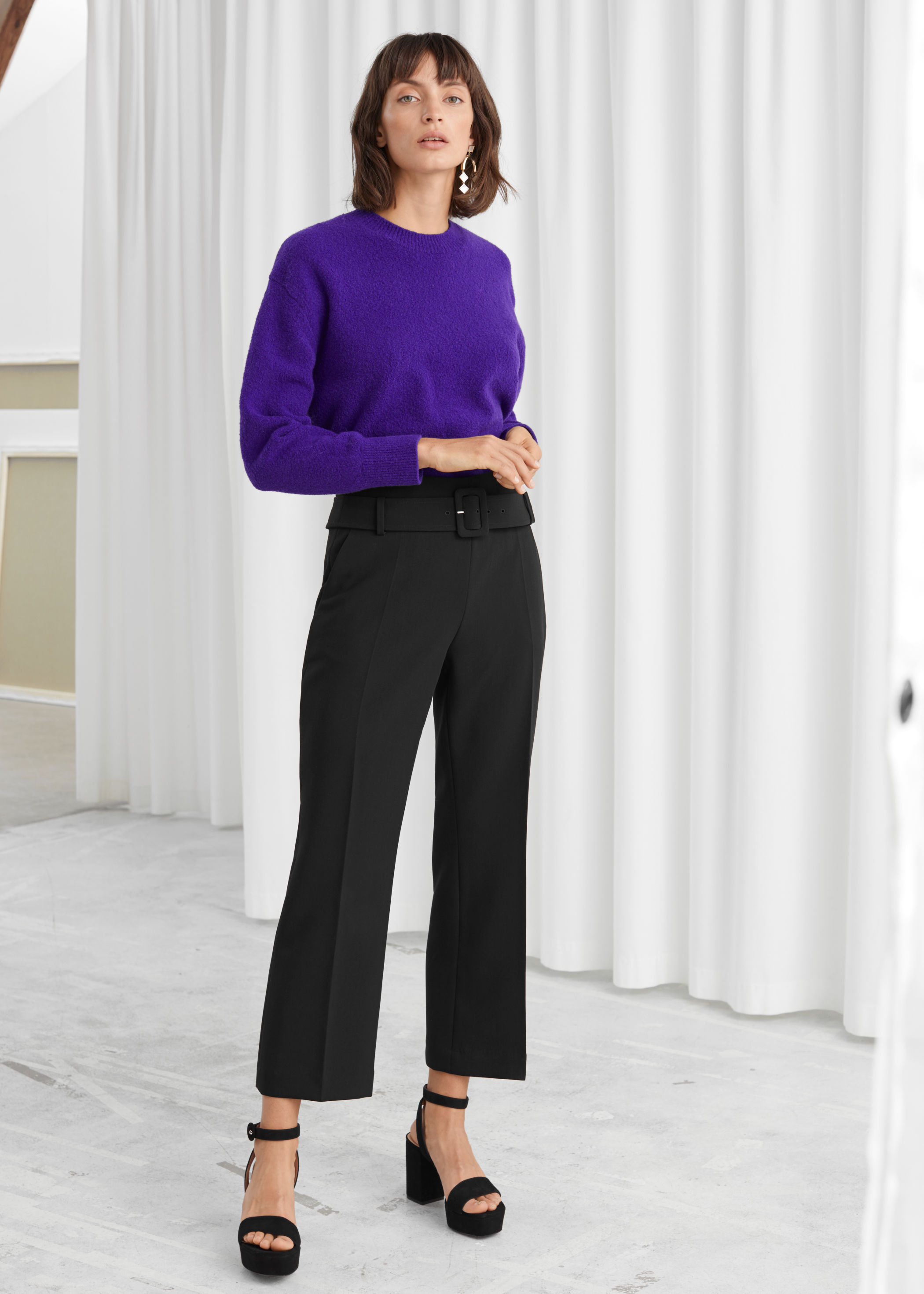Tailored Buckle Belt Trousers by & Other Stories