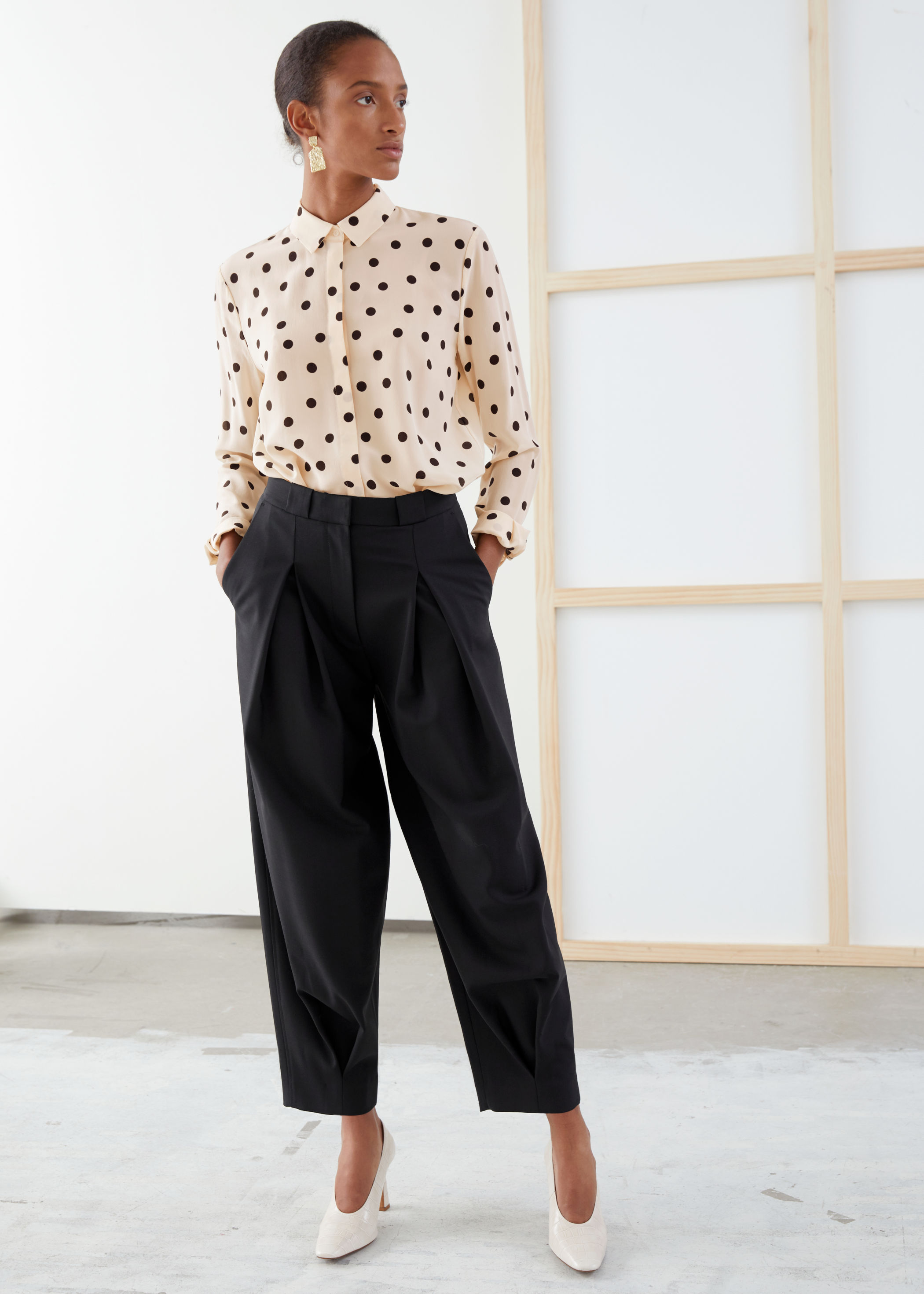 Tailored Wool Blend Pleated Trousers by & Other Stories