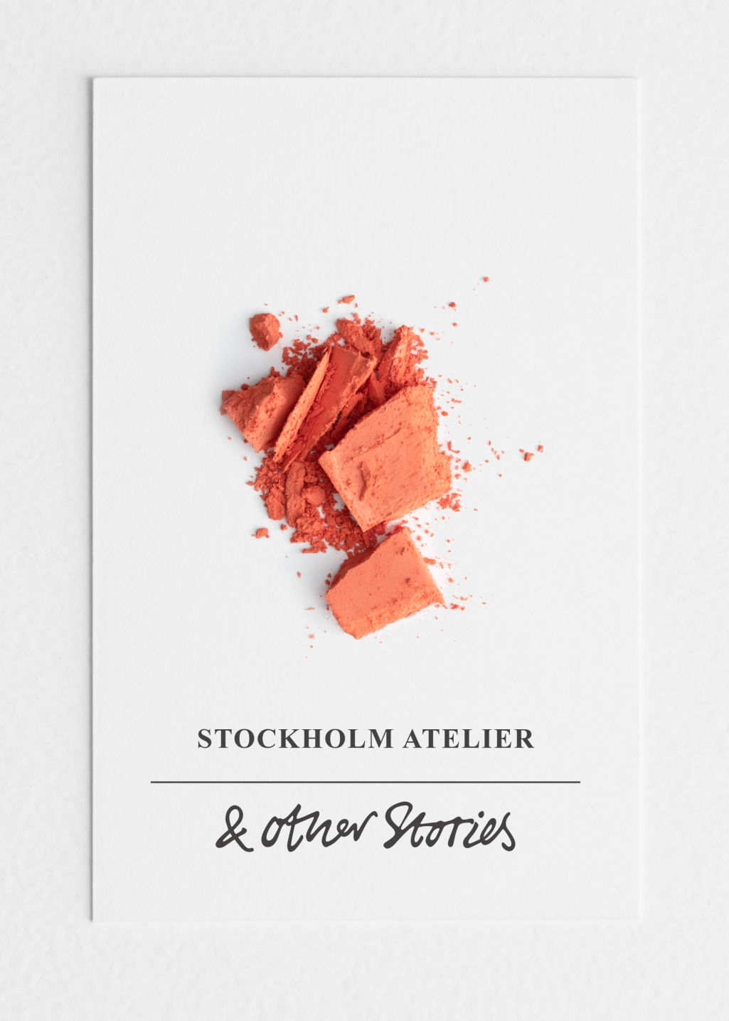 Back image of Stories blusher in orange