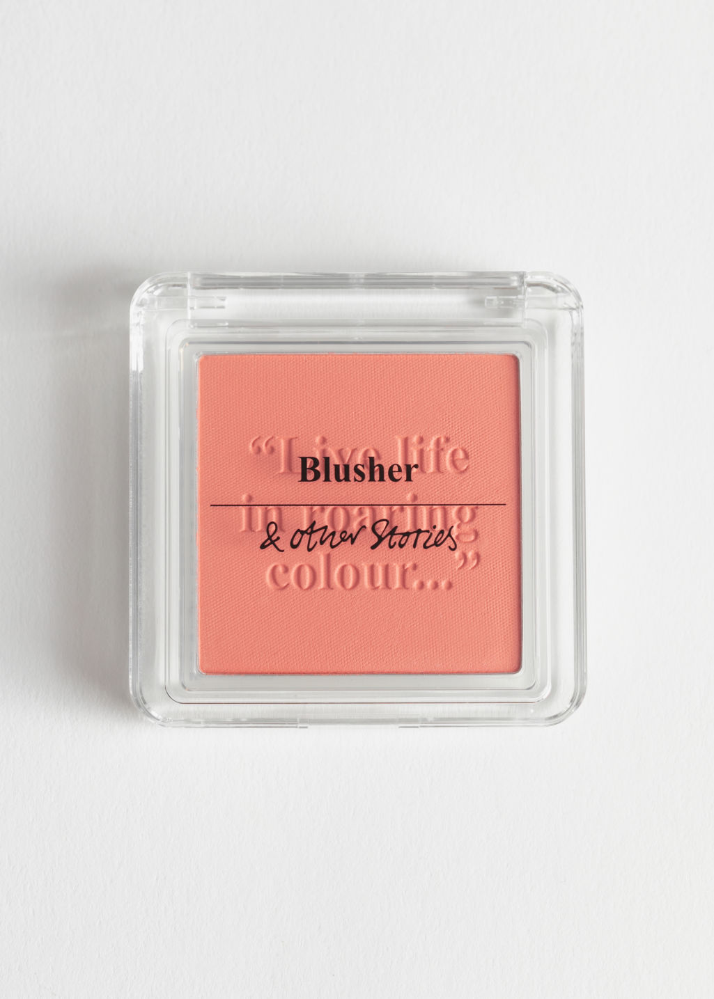 Front image of Stories blusher in orange