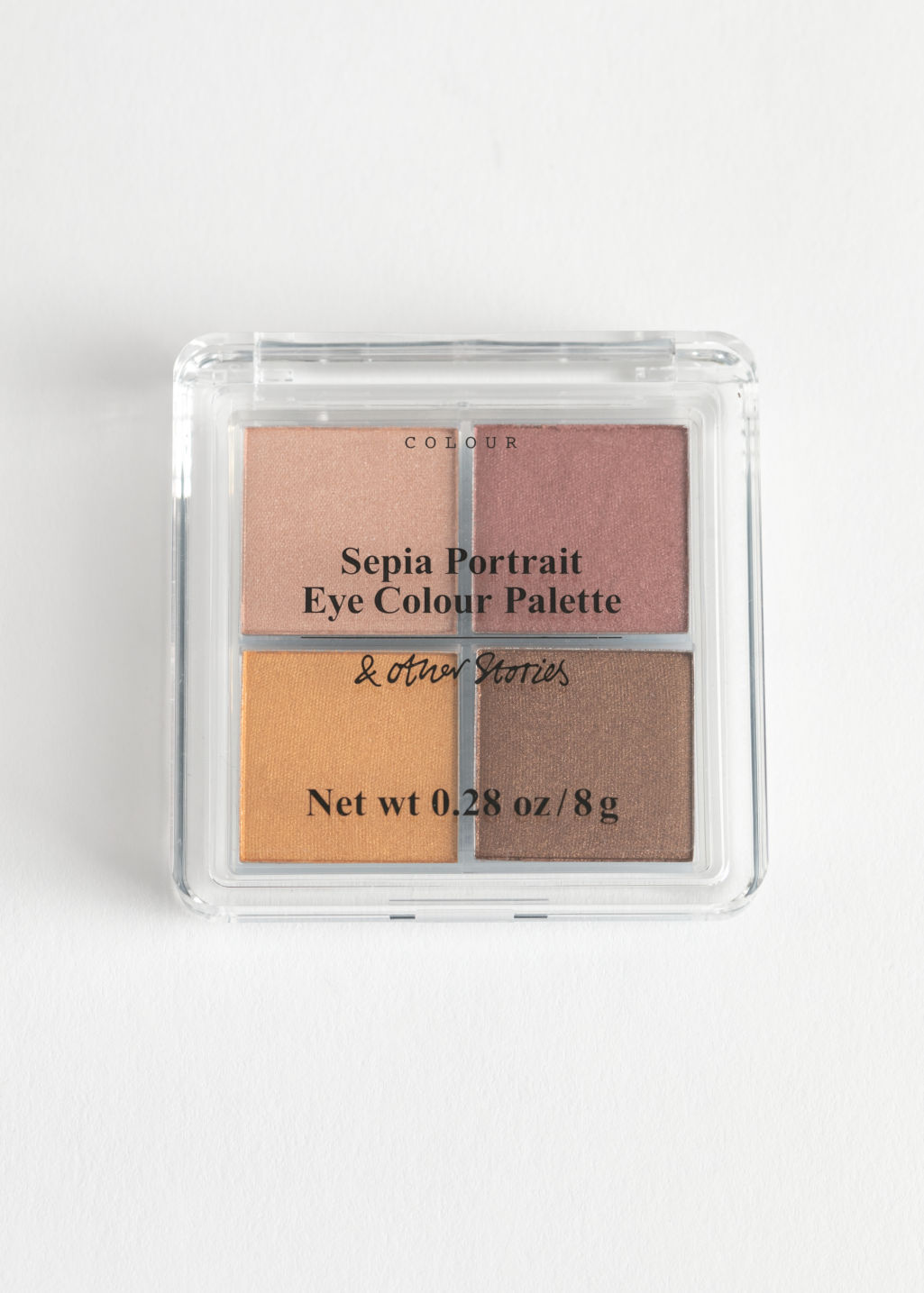 Front image of Stories eyeshadow palette in orange