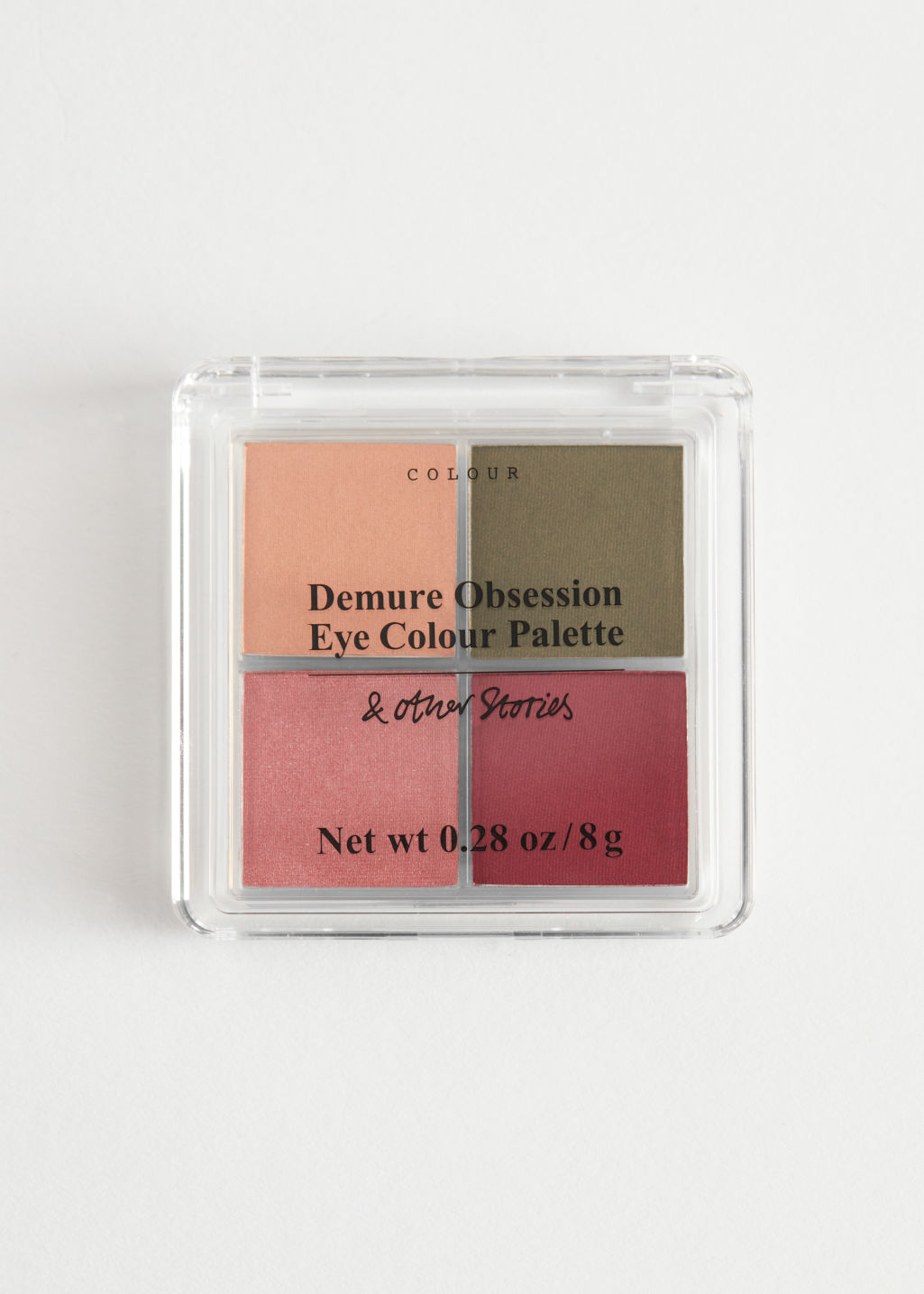Front image of Stories eyeshadow palette in red