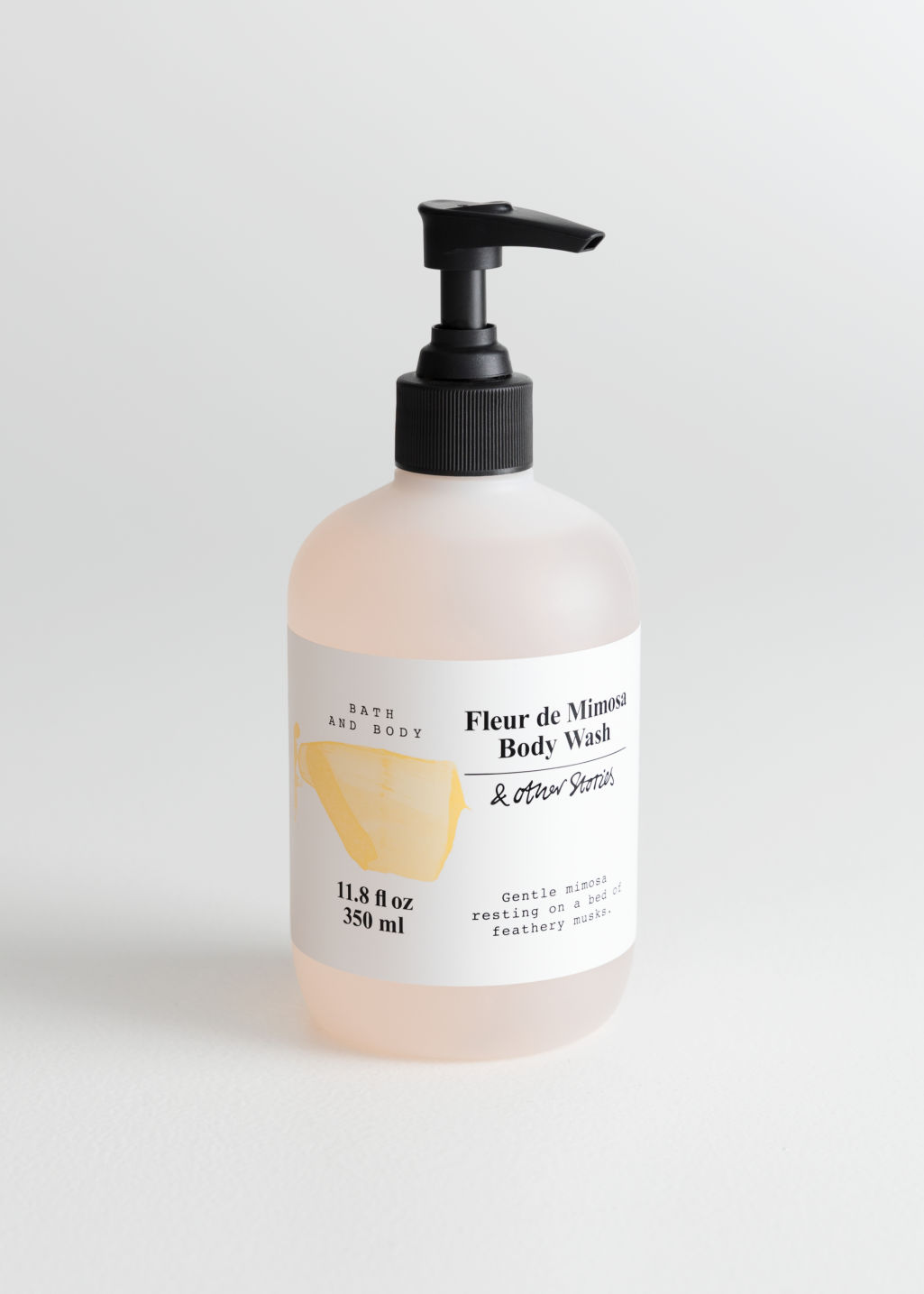 Front image of Stories body wash in orange