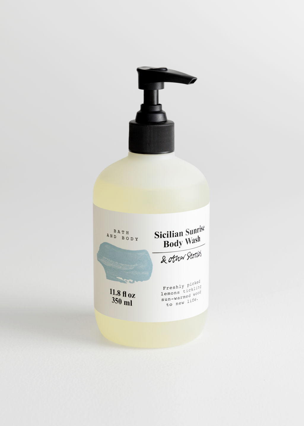 Front image of Stories body wash in turquoise