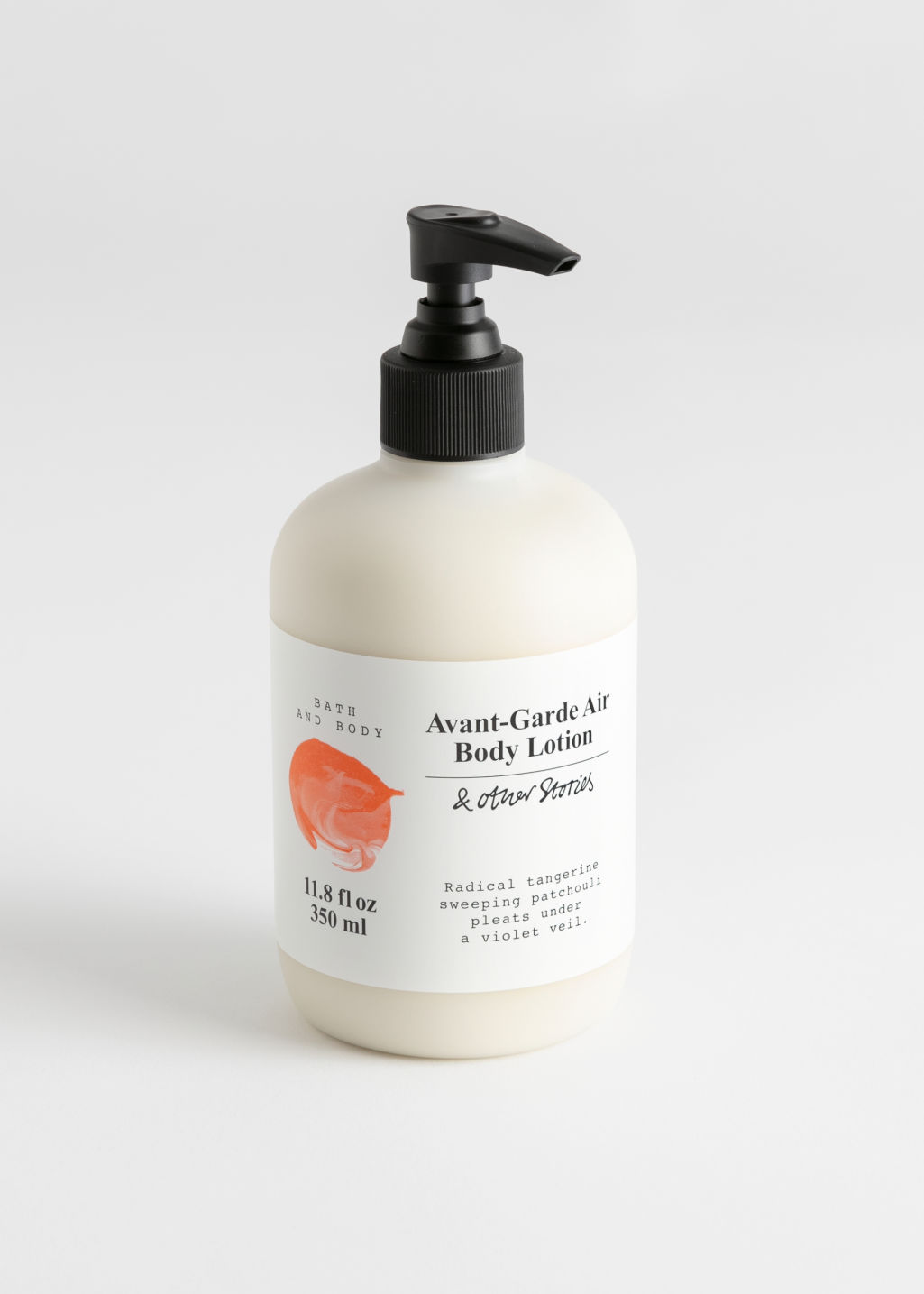 Front image of Stories body lotion in orange