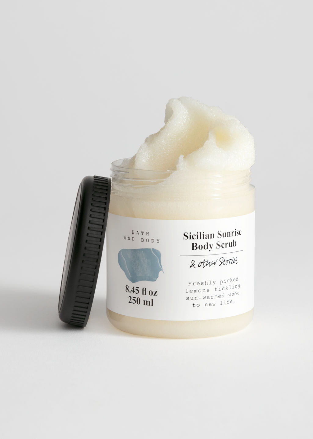 Front image of Stories body scrub in turquoise