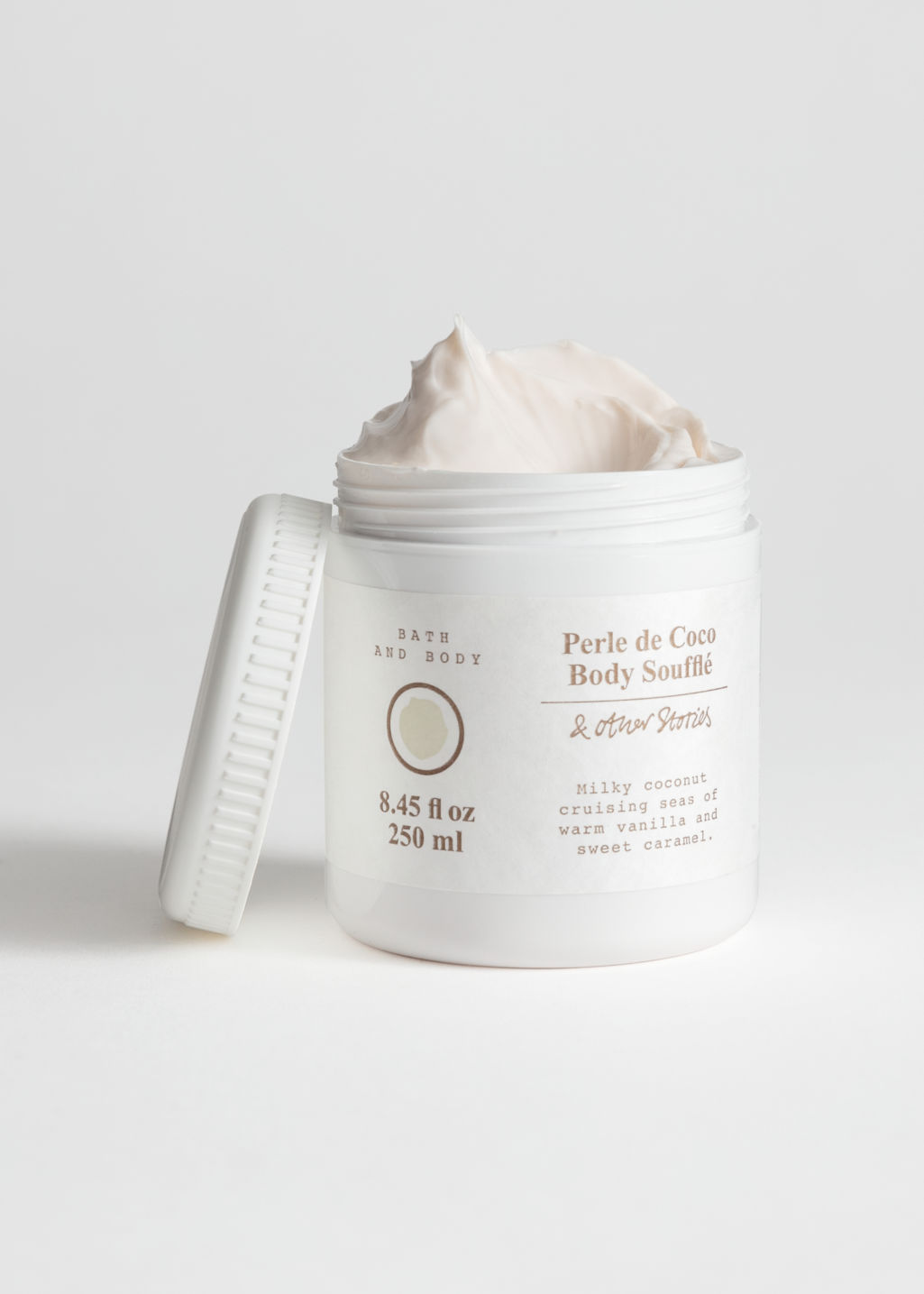 Front image of Stories body soufflé in white