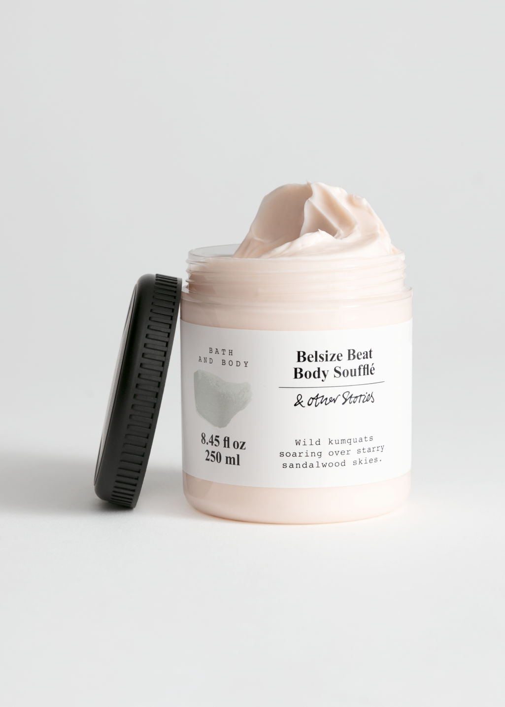 Front image of Stories body soufflé in beige