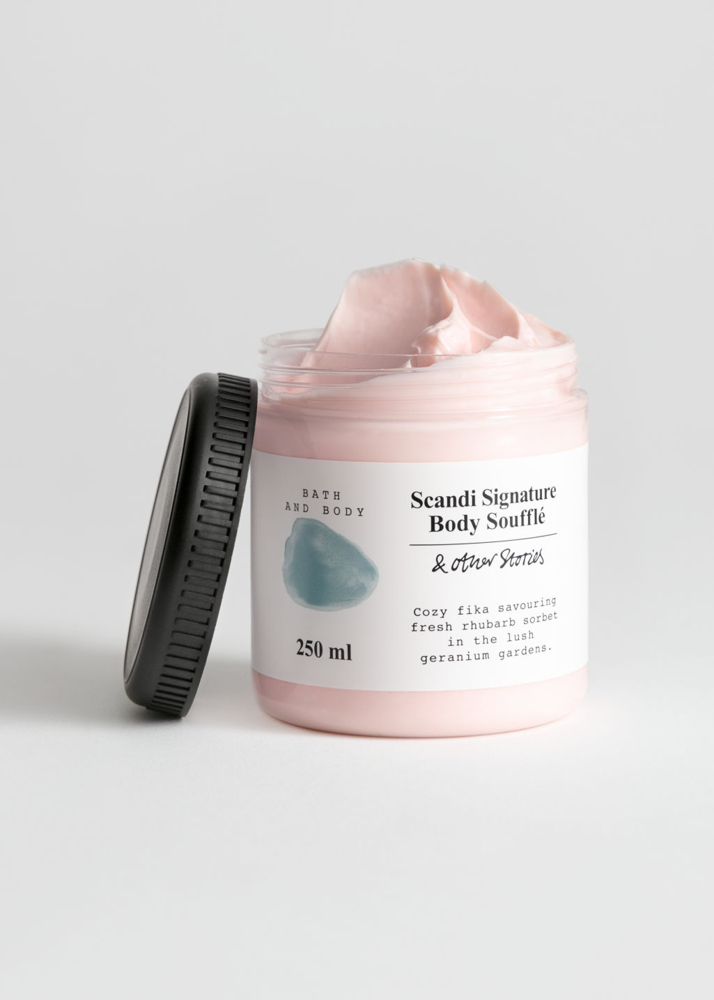 Front image of Stories body soufflé in pink