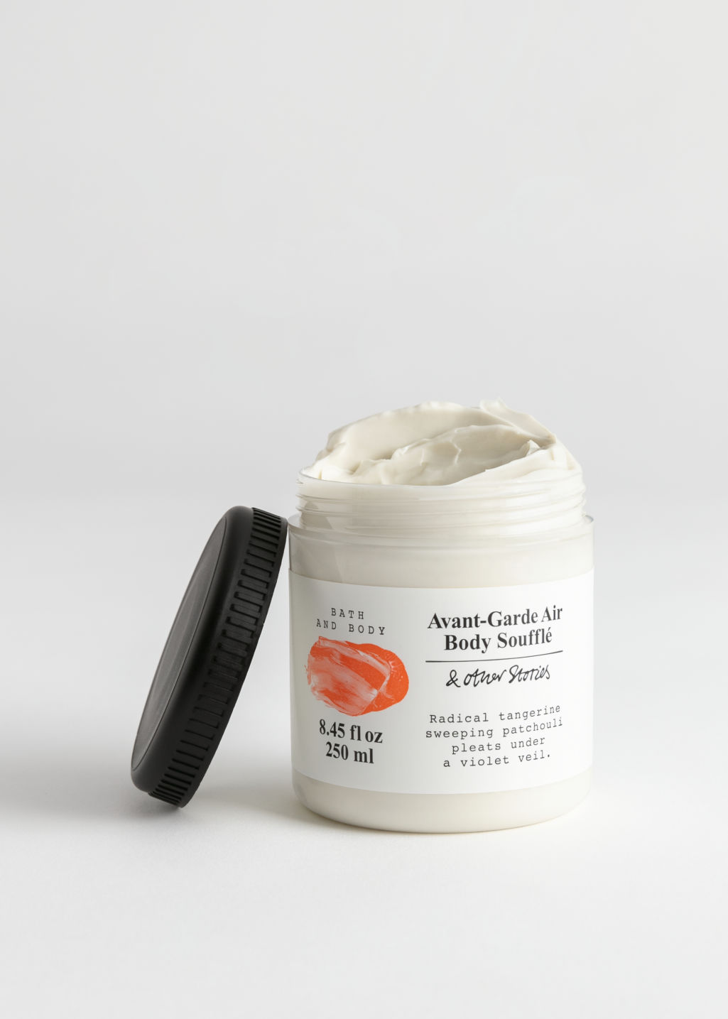 Front image of Stories body soufflé in orange