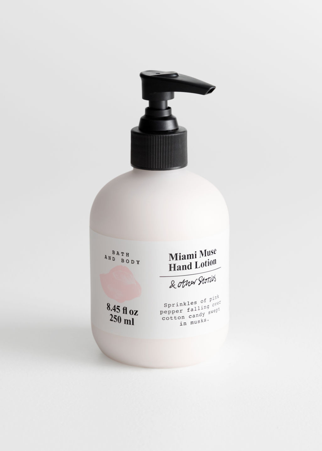 Front image of Stories hand lotion in pink