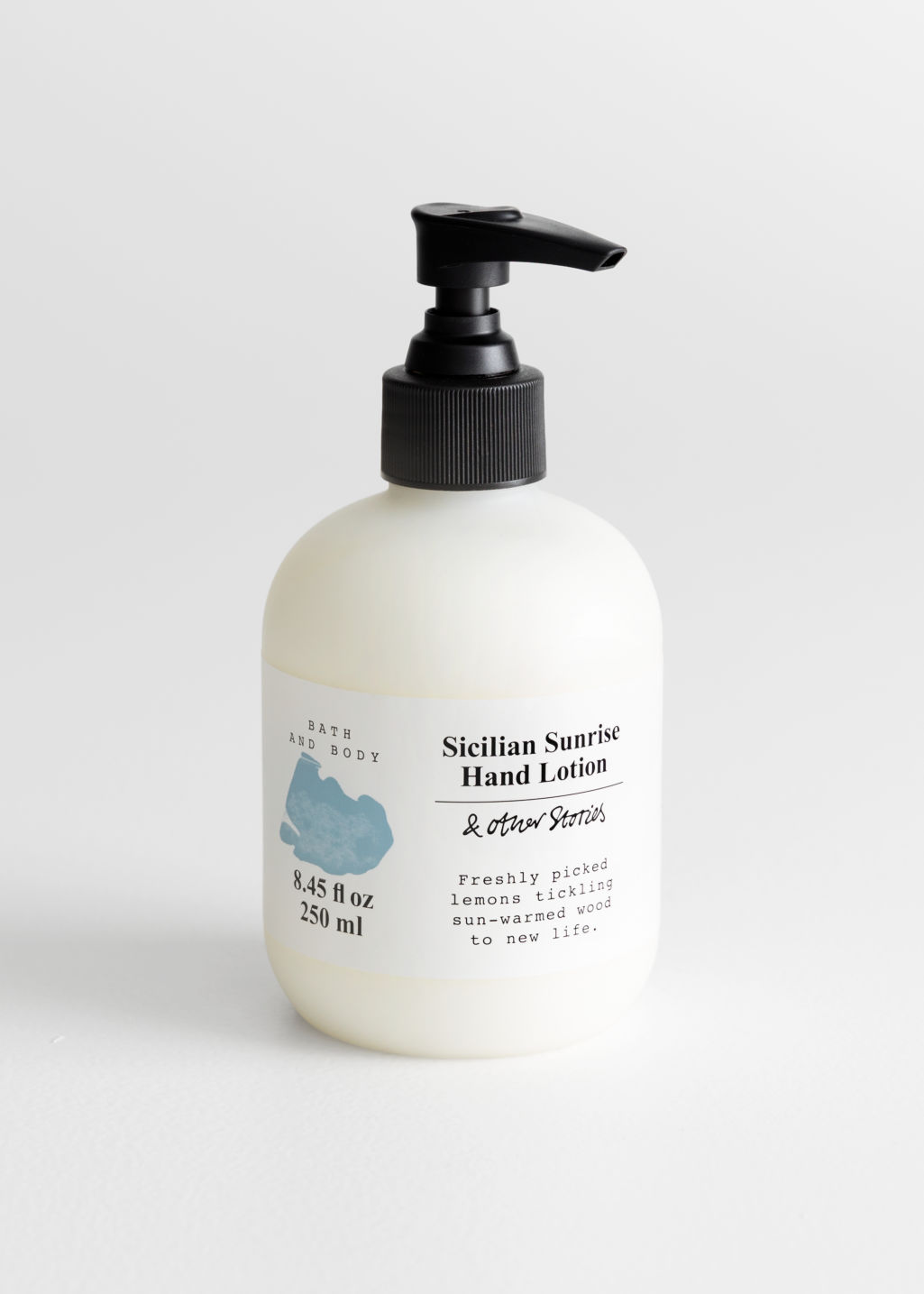 Front image of Stories hand lotion in turquoise