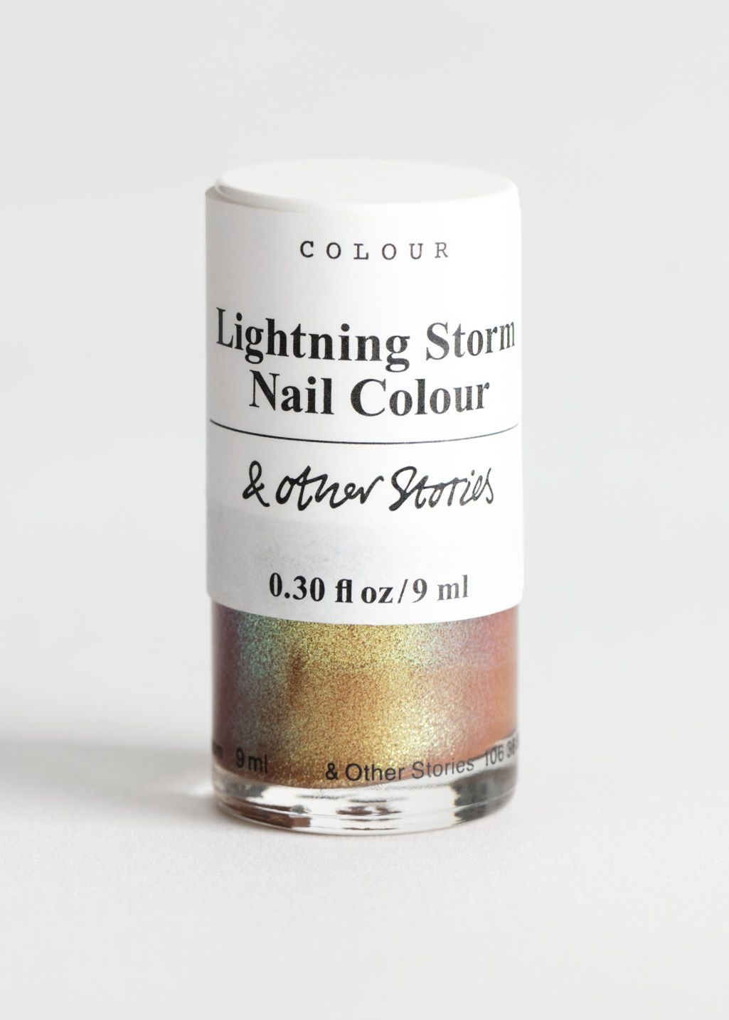 Front image of Stories nailpolish in yellow